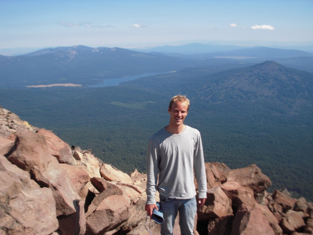 Me at the top with Lake of the Woods in the background.